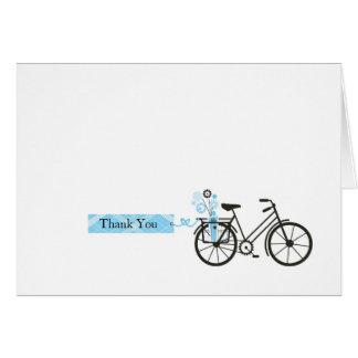 La bicicleta le agradece cardar tarjeta pequeña