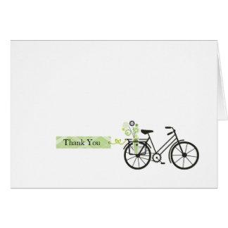 La bicicleta le agradece cardar felicitaciones