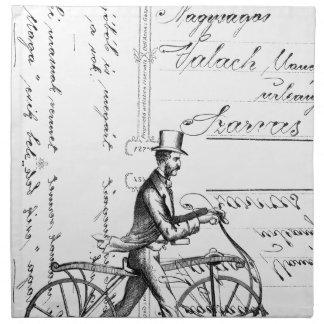 La bicicleta que camina servilletas de papel