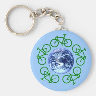 La bicicleta recicla productos llavero personalizado