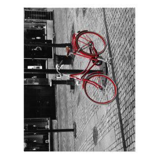 La bicicleta roja membrete personalizado
