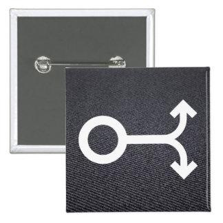 La bifurcación echa a un lado pictograma pin cuadrada 5 cm