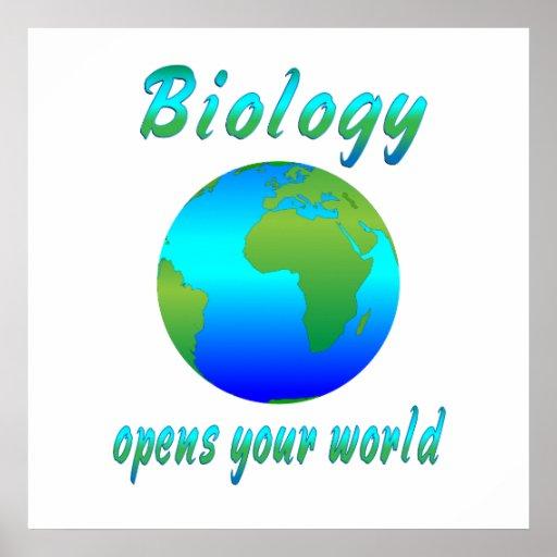 La biología abre los mundos - comenzando en $11,80 póster