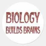La biología construye cerebros etiquetas redondas