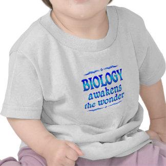 La biología despierta camisetas