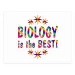 La biología es el mejor postal