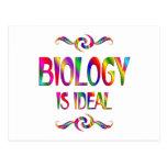 La biología es ideal postal