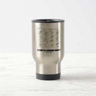 La biología es un tema de florecimiento los tipos taza de café