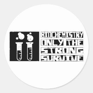 La bioquímica sobrevive pegatina redonda