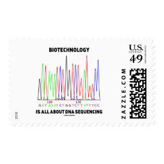 La biotecnología está todo sobre la secuencia de timbre postal