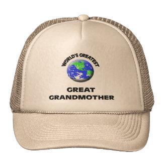 La bisabuela más grande del mundo gorros bordados