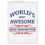 La bisabuela más impresionante del mundo tarjeta