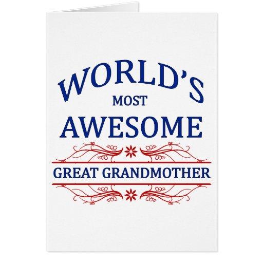 La bisabuela más impresionante del mundo tarjeta de felicitación