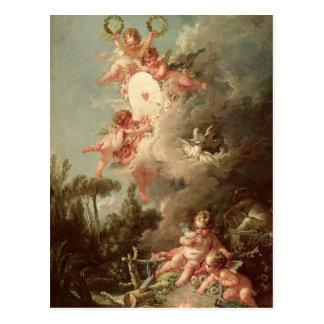 La blanco del Cupid, 'de DES Dieux de los amoríos Tarjeta Postal