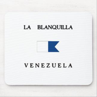 La Blanquilla Venezuela Alpha Dive Flag Mousepads