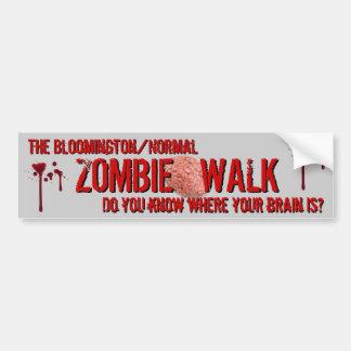 La Bloomington/el paseo normal del zombi Etiqueta De Parachoque