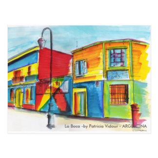 La Boca -by Patricia Vidour - ARGENTINA Postcard