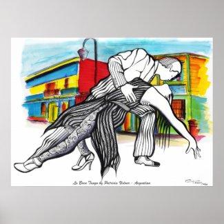 La Boca Tango print
