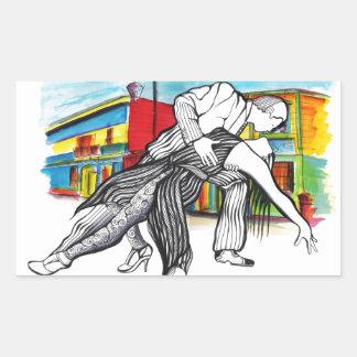 La Boca Tango Rectangular Sticker