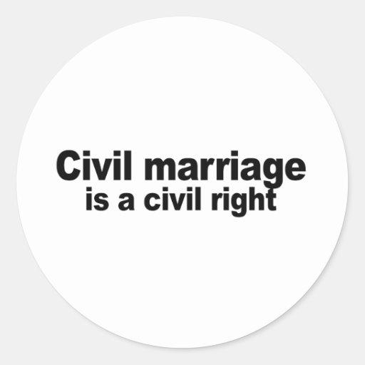 La boda civil un correcto civil pegatina redonda
