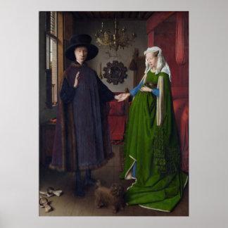 La boda de Arnolfini (en enero van Eyck) Póster