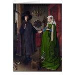 La boda de Arnolfini (en enero van Eyck) Tarjeta