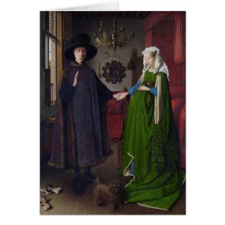 La boda de Arnolfini (en enero van Eyck) Tarjeta De Felicitación