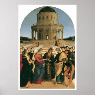 La boda de la impresión de la lona de la Virgen