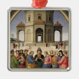 La boda de la Virgen, 1500-04 Ornato