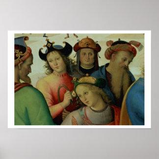 La boda de la Virgen, detalle de los pretendientes Póster