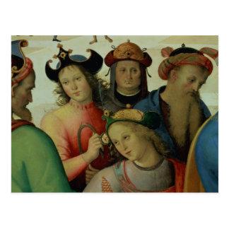 La boda de la Virgen, detalle de los Tarjeta Postal