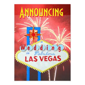 """La boda de Las Vegas con la recepción invita Invitación 5.5"""" X 7.5"""""""