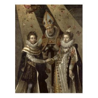La boda de Louis XIII Tarjeta Postal