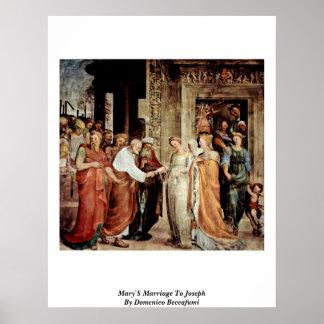La boda de Maria a José de Domingo Beccafumi Posters