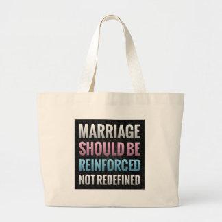 La boda debe ser reforzada bolsa tela grande