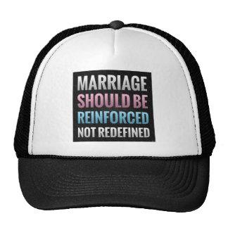 La boda debe ser reforzada gorro