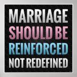 La boda debe ser reforzada posters