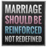 La boda debe ser reforzada servilletas de papel