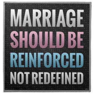 La boda debe ser reforzada servilletas imprimidas