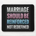 La boda debe ser reforzada tapete de ratones