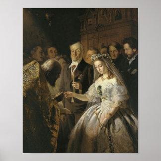 La boda desigual, 1862 poster