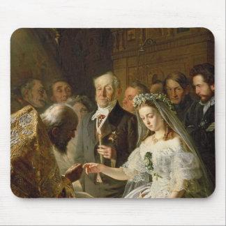 La boda dispuesta, 1862 alfombrilla de ratones