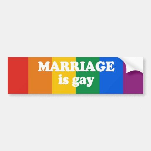 La boda es pegatina para el parachoques gay pegatina para auto