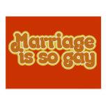 La boda es tan gay tarjeta postal