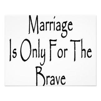 La boda está solamente para el valiente invitacion personal