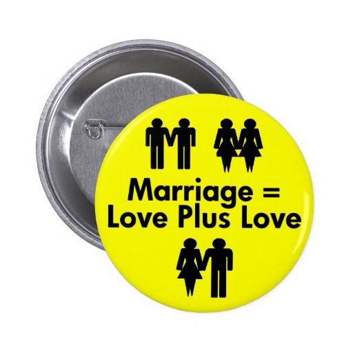 La boda iguala amor más el botón del amor pin