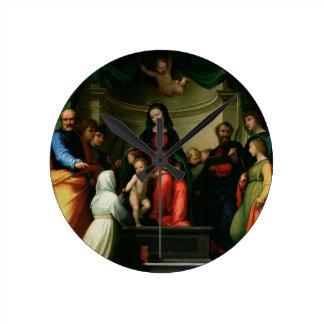 La boda mística de St. Catherine de Siena con Reloj Redondo Mediano