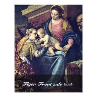 La boda mística de St. Catherine por Veronese Flyer A Todo Color