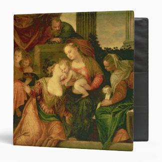 """La boda mística del santo Catherine Carpeta 1 1/2"""""""