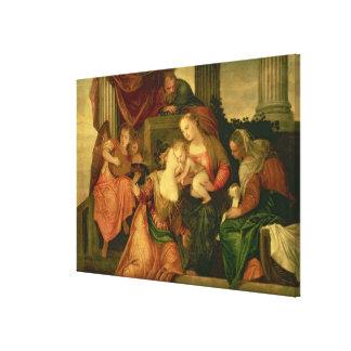La boda mística del santo Catherine Impresion De Lienzo
